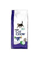 Cat Chow (Кет Чау) Feline 3 в 1 (Корм для кішок з індичкою), 15 кг.