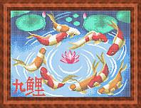 Схема для полной вышивки бисером - Японские рыбки, Арт. ЖБп3-68-2