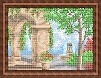 Схема для полной вышивки бисером - Арка в цветах, Арт. ПБп4-19