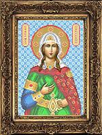 Схема иконы для вышивки бисером - Светлана Святая Великомученица, Арт. ИБ4-19-1