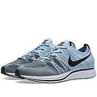 Оригинальные кроссовки Nike Flyknit Trainer Cirrus Blue & Black