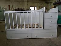 """Кровать трансформер детская  4 в 1  """"DREAMKA"""" от 0 до 12 лет (белая)"""