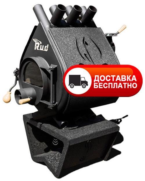 Печь булерьян Rud Pyrotron Кантри 00 со стеклом и обшивкой