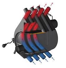 Печь булерьян Rud Pyrotron Кантри 01 со стеклом и обшивкой, фото 3