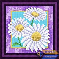 Схема для полной вышивки бисером - Букет ромашек, Арт. НБп19-6