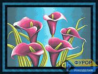 Схема для полной вышивки бисером - Красивые каллы, Арт. НБп2-11-3
