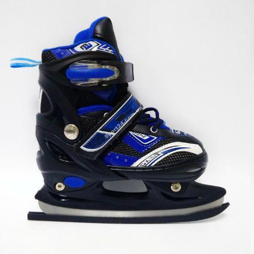 Ледовые коньки Gosome (Госом) раздвижные, Синие (30-33), (34-37), (38-41)