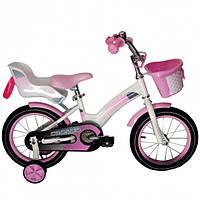 """Детский велосипед CROSSER KIDS BIKE C-3, 12""""   Белый/розовый"""