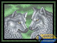 Схема для полной вышивки бисером - Красивая пара волков, Арт. ЖБп4-38-1