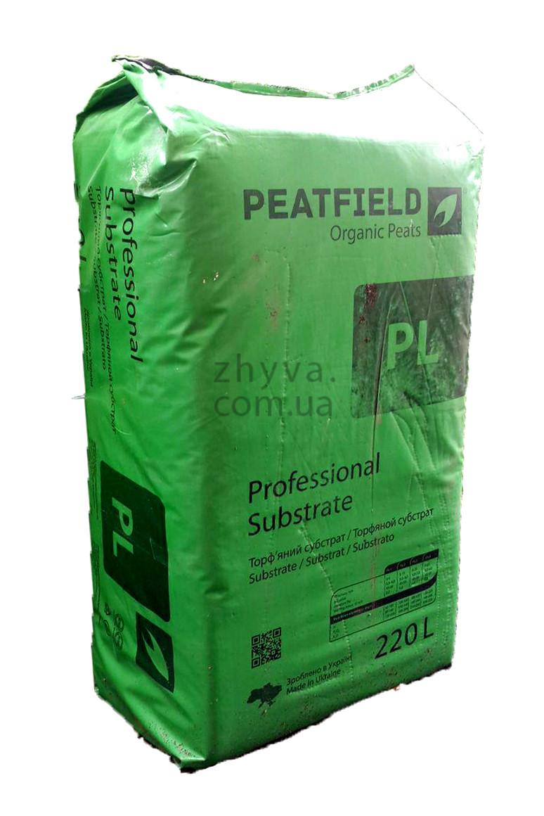 Субстрат професійний PL-1(0-5 мм) Peatfield EXPERT 220 л / Торфяной субстрат Питфилд експерт 220 л