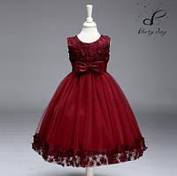 """Вечернее платье для девочек """"Глория"""". Цвет бордо."""