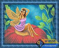 Схема для частичной вышивки бисером - Фея на цветке, Арт. ФБч3-5-2