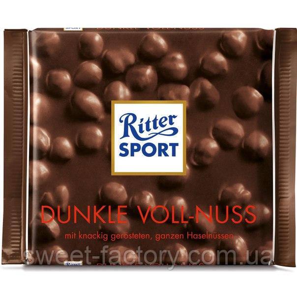 Шоколад Ritter Sport черный с фундуком