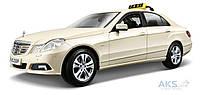 Автомодель Maisto (1:18) Mercedes Benz E-Class German Taxi (36191) УЦЕНКА! Светло-жёлтый