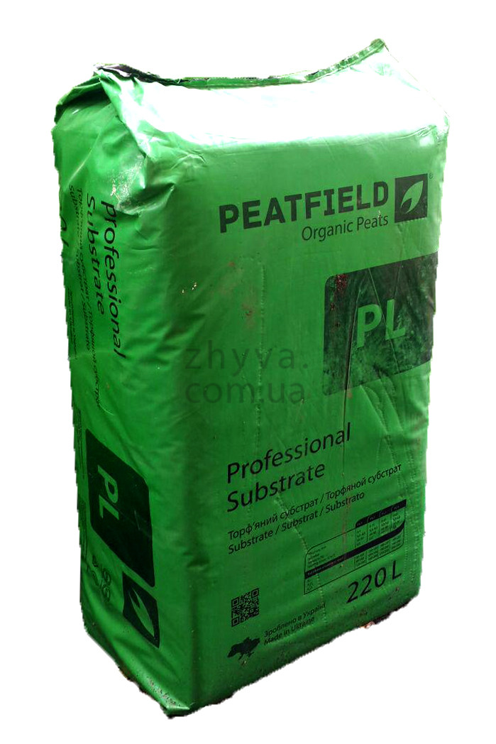 Субстрат професійний PL-2 (5-15 мм) Peatfield Expert 220 л / Торфяной субстрат Питфилд експерт 220 л