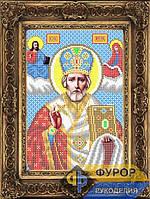 Схема иконы для вышивки бисером - Николай Чудотворец (Угодник), Арт. ИБ4-29-1