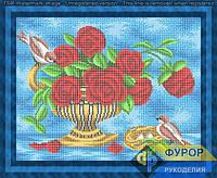 Схема для полной вышивки бисером - Птицы на букете роз, Арт. НБп3-123