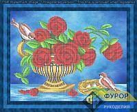 Схема для частичной вышивки бисером - Птицы на букете роз, Арт. НБч3-124