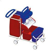 Clino STE5 – Тележка из нержавейки для уборки офисов, санаториев, школ, промышленных предприятий, вокзалов