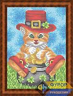 Схема для полной вышивки бисером - Кот в шляпе, Арт. ЖБп4-45