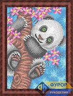 Схема для полной вышивки бисером - Панда на дереве, Арт. ЖБп4-47