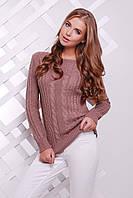 Вязаный свитер цвет Фрез, размер универсальный 44-50