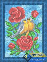 Схема для вышивки бисером - Птицы в розах, Арт. ЖБп4-56