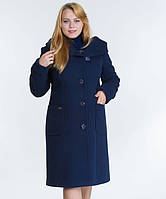 Зимнее пальто с капюшоном № 24 синий р. 46