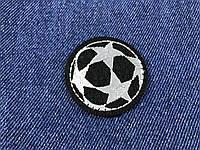 Нашивка футбольный мяч черный 40 мм