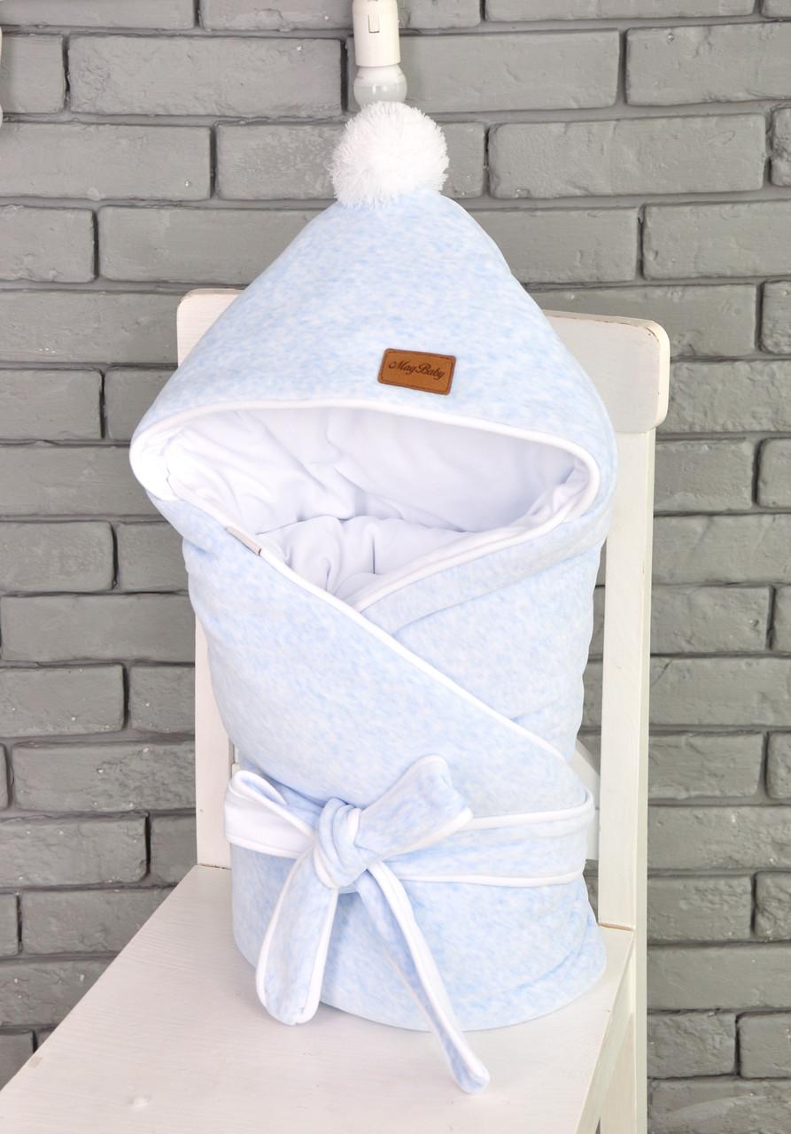 Велюровый конверт-одеяло на трикотаже