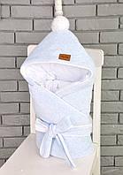 Велюровый конверт-одеяло на трикотаже , фото 1