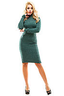 Платье теплое 249 зеленое
