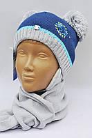 Модная зимняя шапочка на флисе+шарф . Польша, фото 1