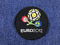 Нашивка Euro 2012 черный 60х60 мм