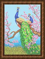Набор для полной вышивки бисером - Павлины на ветке сакуры, Арт. ЖБп2-2