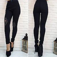 Женские джинсы стрейч рванка на коленях+прибитые холитены Турция, фото 1