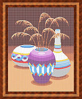 Набор для полной вышивки бисером - Натюрморт из трех ваз, Арт. НБп2-1