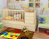 """Детская кроватка с пеленатором и ящиками """"Дримка"""""""