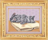 Набор для полной вышивки бисером - Игривый котенок, Арт. ЖБп3-7-1