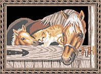 Набор для частичной вышивки бисером - В хлеву, Арт. ЖБч3-13