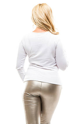 Реглан женский теплый 364 белый, фото 2