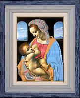 Набор для частичной вышивки бисером - Мадонна с младенцем, Арт. ЛБч3-3