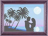 Набор для полной вышивки бисером - Влюблённая пара у моря, Арт. ЛБп3-4