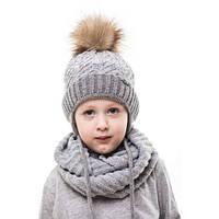 """Детская шапка """"Стиль"""" Окружность головы: 44-48см"""