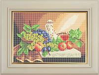 Набор для полной вышивки бисером - Бокал вина и виноград, Арт. НБп3-14