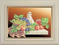 Набор для частичной вышивки бисером - Бокал вина и фрукты, Арт. НБч3-15