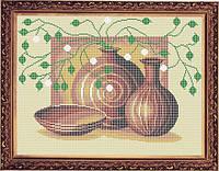 Набор для полной вышивки бисером - Натюрморт из кувшинов, Арт. НБп3-18