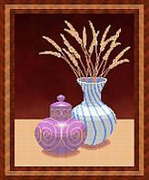 Набор для частичной вышивки бисером - Натюрморт из вазы и графина, Арт. НБч3-36