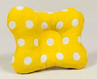 Ортопеическая подушка для младенцев бабочка BabySoon Солнышко 22 х 26 см желтая (142)