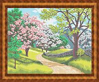 Набор для полной вышивки бисером - Цветущая весна, Арт. ПБп3-21
